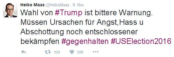 Maas Tweet
